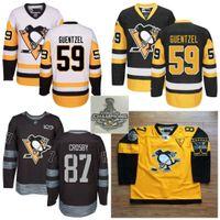 Wholesale Kids Black Ice Jersey - Kids Womens Mens 2017 Stanley Cup Champions Pittsburgh Penguins 87 Sidney Crosby 59 Jake Guentzel Evgeni Malkin Matt Murray Custom Jerseys