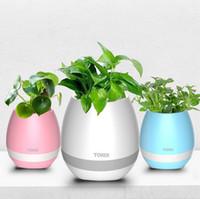 Wholesale flower vases for sale - Group buy New Creative Designer Intelligent Vase Plant Flowerpots Bluetooth USB Led Pots Speaker Smart Music Flower Pot High Quality aa
