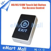 Wholesale Exit Push Button Access Control - Wholesale- High Quality Exit Switch Button door release LED Light NO NC CM Push Button Switch For Door Access Control