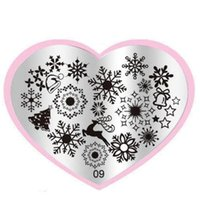 Wholesale Hot Stamp Plate - Wholesale- Superior Hot Christmas Snowflake DIY Nail Art Image Stamp Stamping Plates Manicure Template Sep 23