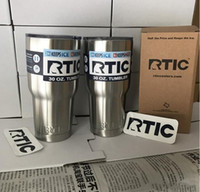 Wholesale Big Cool Cars - New RTIC Cups Tumbler Cups Car Cups Stainless Steel Sharp vs YETI Mugs 30oz 20oz Cooler Bilayer Insulation Water Bottles Mugs free ship