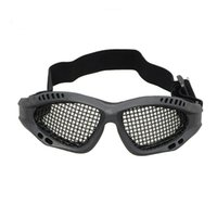 Wholesale Tactical Glasses Nets - High Quality Hunting Airsoft Net Tactical Shock Resistance Eyes Protecting Outdoor Sports Metal Mesh Glasses Goggle ht336