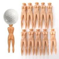 Wholesale Novelty Jokes - ONLY 10Pcs Novelty Joke Nude Lady Golf Tee Plastic Practice Training Golfer Tees FREE shipping