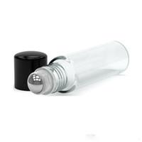 маленькая бутылочка масла оптовых-600 шт. / лот пустой рулон на стеклянные бутылки из нержавеющей стали ролик ясно 10 мл многоразового ролика стеклянные бутылки для аромат эфирное масло