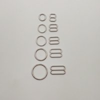 Wholesale Bra Sliders - 50 sets   lot Nickel plated bra sliver rings and sliders free shipping