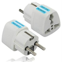 Wholesale Eu Ac Power Socket Plug - Universal Travel Adapter US AU UK to EU Plug Travel Wall AC Power Adapter 250V 10A Socket Converter White Charger