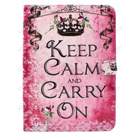 Wholesale Iphone Keep - Keep Calm PU TPU Leather Shockproof Flip Case Cover for iPad 2 3 4 Tab 3 4 A S S2 free DHL