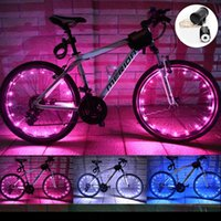 Wholesale wire wheels wholesale - 20 LED Bicycle Wheel Light Waterproof Copper Wire LED String Light Bicycle Wheel Rim Lights Battery Powered Bike Wheel Valve Cap Lights