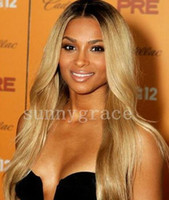 """Wholesale Highlighted Human Lace Front Wigs - Lace Front Wigs Indian Remy Hair Silky Straight 10""""-40"""" highlight Human Hair Lace Wigs Hand tied Wigs Free Shipping DHL"""