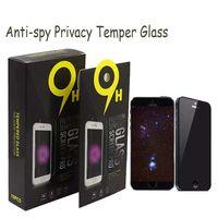 lg stylo telefone venda por atacado-Para m metropcs telefones protetor de tela de vidro temperado privacidade anti-spy para samsung j3 j7 prime lg stylo 3 k10 g7 g5s g10s pacote 10 em 1