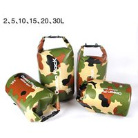 Wholesale Tennis Equipment Wholesalers - camouflage Drifting Waterproof Bag 2L 5L 10L 15L 20L 30LTravel Dry Bag Super Light Outdoor Barrel Bag Drifting and Camping Equipment