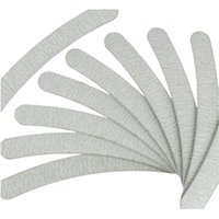 Wholesale Curve Nail Tips - 10psc lot Grey Nail Files Sanding 100 180 Curve Banana for Nail Art Tips Manicure#ZH223
