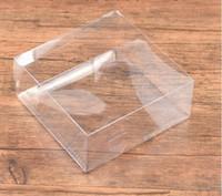dikiş teorileri araçları toptan satış-Dikiş Kavramları Araçları dikiş Kutuları Depolama Temizle PVC Düğün Hediye Kutuları FALT, kare şeffaf PVC kutu