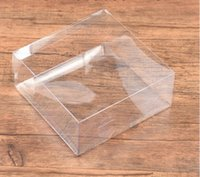 Wholesale Sewing Notions Tools sewing Boxes Storage Clear PVC Wedding Gift Boxes FALT square transparent PVC box