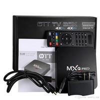 usb 265 venda por atacado-2G8G MXQ Pro 4 K Smart TV Box 17.4 TV Box Rockchip Android 7.1 Streaming Media Player suporte Wi-fi H.265 3D Livre Filmes HDMI