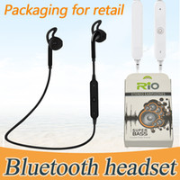 Wholesale Bluetooth Headphones White Sport - Bluetooth Headphones Headset Sports Wireless S6 s9 Stereo Neckband Universal Running Phone Earphone With Retail Package Earbuds Power Sound