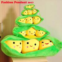Wholesale Angle Ornaments - Cute pea angle cartoon doll creative plush pendant Dutch pea pod 25cm key chain ornaments bag pendant