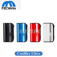 Wholesale lipo fast - Authentic Coolfire Ultra TC150 Box Mod 150W Battery 4000mAh Lipo Fast Charging Aethon Chip 100% Original Cool Fire