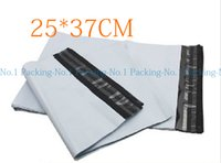 Wholesale Bag Online Wholesale - Wholesale- 100pieces lot EB#2:25x37cm 9.8x14.6inch Poly mailer white poly mailing envelope poly post courier Online shipping express bags