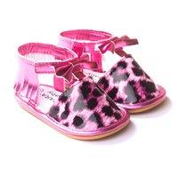 Wholesale Toddler Leopard Sandals - Baby sandals First Walkers summer new Infant Toddler bows T-strap Baby Girls leopard grain Soft Moccs sandals Newborn Baby tassel shoesT2568