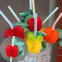 Wholesale Strip Party Straws - Wholesale-50pcs Set Colorful Plastic Strip Art Drinking Fruit Straw For Wedding Party Birthday Decoration VB223 P0.5