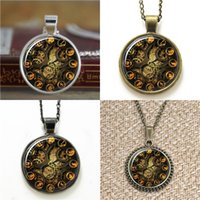 Wholesale steampunk clocks for sale - Group buy 10pcs Steampunk Clock Vintage Necklace keyring bookmark cufflink earring bracelet