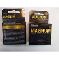 Wholesale Dhl Male Sex Toys - Trojan Condoms MAGNUM latex rubber for men Penis enlargement sex toys condoms 1lot=1case=882box=2646pcs Male Condoms DHL in stock