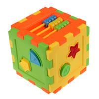 пластиковые блоки для детских игрушек оптовых-Детские красочные блок игрушка кирпичи ABS пластик соответствия блоков детские дети интеллект образовательные сортировки коробка игрушка
