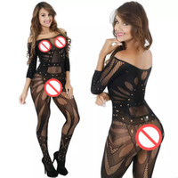 Wholesale sexi woman costume for sale - Sex Toy Sexy Hot Women Lingerie Sleepwear Lenceria Erotica Mujer Sexi Bodystocking Sexy Costumes Women Babydoll Erotic Underwear