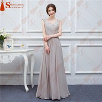 Wholesale Sweetheart Lace Beadings - Hot Sale Cheap Long Bridesmaid Dresses Elegant Cap Sleeve Beadings Sheer Back Formal Wedding Party Gowns Maid Of Honor Dress