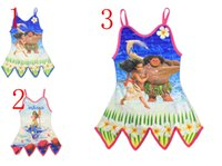 Wholesale Wholesale Baby Girl Bathers - Moana Children Bathing Suit Kids Girls Swim Suit Bathers 2017 Newest Baby Girls Swimwear Summer Kids One Piece Swimsuit