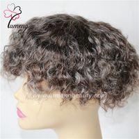 Wholesale Blonde Grey Wig - Personal custom 100% human hair grey hair color women wigs