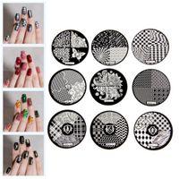 Wholesale Designer Nail Polish - Wholesale-Flower Pattern Fashion DIY designer Steel Plate Nail Art Image Print Stamp Stamping Manicure Template DIY Polish Tools 9 Styles