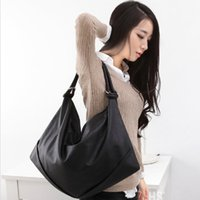 Wholesale Sholder Bag Leather - Wholesale-Women's fashion black big sholder bag fashion 2016 PU leather women's shoulder bags drop shipping Xgb271