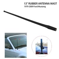 "Wholesale Radio Custom - 1 Pcs Black Short Stubby 13"" Car Decorative Radio FM AM Rubber Antenna Mast Custom Flexible For Ford Mustang 1979-2009 *"