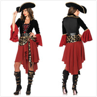 Sexy Adult Pirate Cosplay Dress Halloween Cosplay Costume Cool Cavalier Clothing Women Fancy Party Размер платья S M L XL XXL