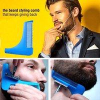 Wholesale beard shapes - Beard Shaping Tool Hair Styling Template Shaping Comb for Hair Beard Trimming Lines Modelling Tools Hair Shaving Comb Brush