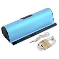 telefon hoparlör yuvası toptan satış-Tablet PC Telefon için Stand Dock ile toptan-Bluetooth Wireles Taşınabilir Hoparlör