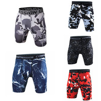 Wholesale Mens Slim Wholesale Clothes - New Mens Camouflage Compression Tight Shorts Fitness Brand Clothing Sport Camo Short Pants Homme Men Bodybuilding Shorts M-XXXL ZL3431