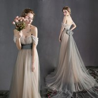 Wholesale Plus Size Couture Wedding Dresses - Sexy Off the Shoulder Sash Beach Wedding Dresses Vintage 2017 New Arrival Tulle A-line Couture Custom Made Bridal Gowns Cheap Wedding Gowns