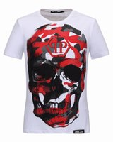 Wholesale Cheap Cotton Tees - Cheap 3D Pattern T-shirts for Men Big Skulls Coloured 3D Printed Polo t shirts Short Sleeve Male Sports tops Tee Shirt 18230
