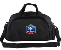 Wholesale Hand Soccer - France duffel bag Soccer team hand tote Quality FFF backpack Football luggage Sport shoulder duffle Outdoor sling pack