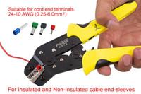 Wholesale Ratchet Terminal Crimp Crimping Tool - JX-1601-06 Multifunctional Ratchet Crimping Tool Pin Plug Spring Terminals Clamp