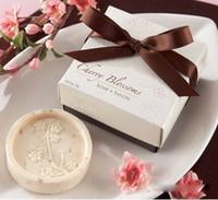 Wholesale Soap Favors Cherry Blossom - Wholesale-Cherry Blossom Shape Handmade Soap Scented Decorative Soaps Scented Soap Shower Wedding Favors