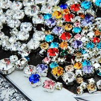 Wholesale Mixed White and Multi color Artificial Crystal Rhinestone mm Package