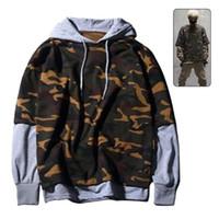 Wholesale Wholesale Streetwear Sweatshirts - Wholesale- 2017 Spring Autumn Winter Hoody Men Casual Camo Top Hip-hop Vogue Camouflage Hoodies False Two Pieces Sweatshirt