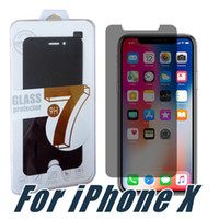 Wholesale Glare Shield - For iPhone X Privacy Screen Protector Shield Anti-Spy Peeping Real Tempered Glass For iPhone 8 7 6 5 Plus