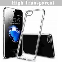 Wholesale Iphone Crystal Clear Cases Wholesale - Crystal Clear Case For iPhone 8 7 6 Plus Ultra Thin High Transparent Soft Gel TPU Case For Samsung Galaxy S8 S7 S6