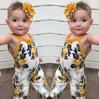 Wholesale Kids Tales floral print children s summer overalls vintage girl sliders floral overalls children s wear years
