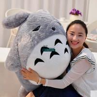 Wholesale Giant Stuffed Totoro - Dorimytrader 110cm Big Japan Anime Soft Plush Totoro Toy 43'' Giant Stuffed Anime Totoro Doll Kids Pillow Baby Present DY61466